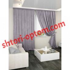 Готовые шторы мрамор серый