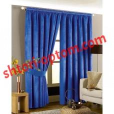 Готовые шторы мрамор синий